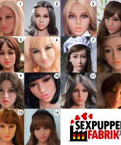 Extra loser Kopf für Topdoll Sexpuppe 2 für 1 Action Sexpuppe versandkostenfrei deutschland